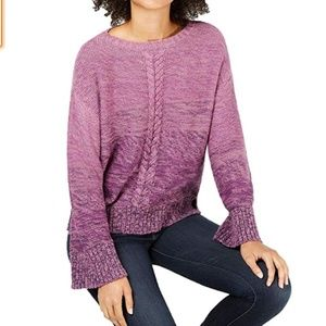 NWT Style & Co. Cable-Knit Grape Sweater